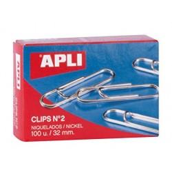 Clips niquelados APLI Nº 2...