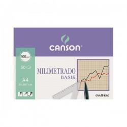 Papel milimetrado CANSON A4...