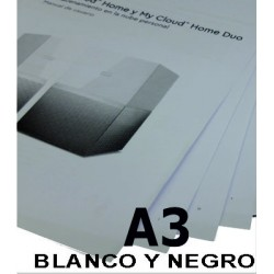 Impresión en tamaño A3 B/N...